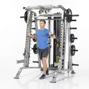 man doing cable chest presses