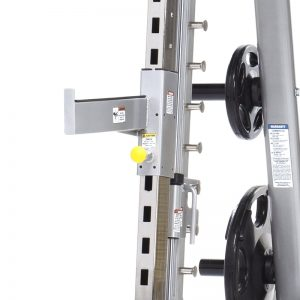 close up of a squat rack