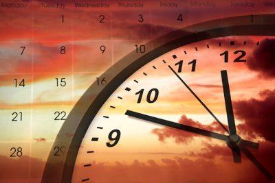 clock and a calander
