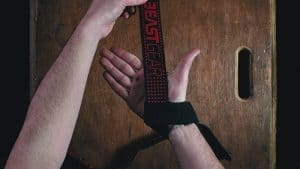 man with his beast gear wrist wraps