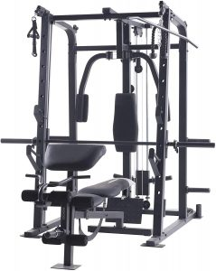 full body workut machine with various strength training stations