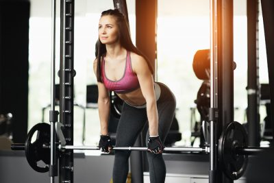 woman training inside a modern gym