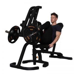 man doing a leg press exercise