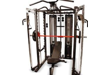 functional trainer and workout bench