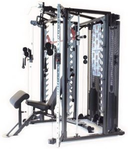 side view of a functional training exercise machine