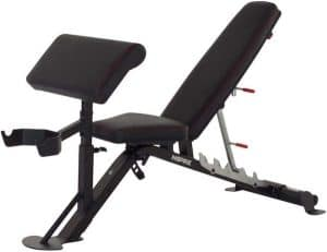 workout bench with preacher pad