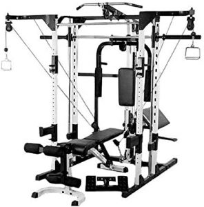 the optional cable crossover package with all its workout stations